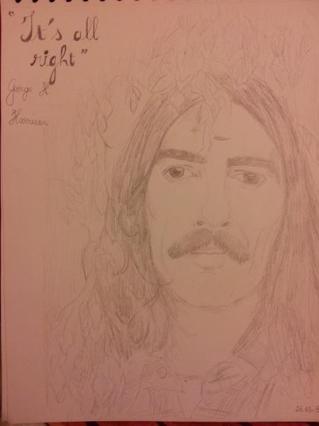 George Harrison par Uribaba